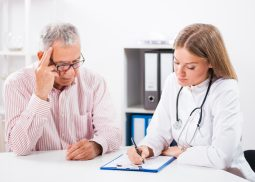 Photo of holistic functional medicine naturopathic doctor or psychiatrist introducing patient to the integrative mental health program anxiety depression bipolar schizophrenia