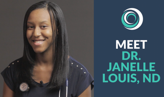 Video of Dr. Janelle Louis, ND, naturopathic and functional medicine doctor, describing the life-changing event surrounding her mother's anxiety that led her to pursue naturopathic medicine