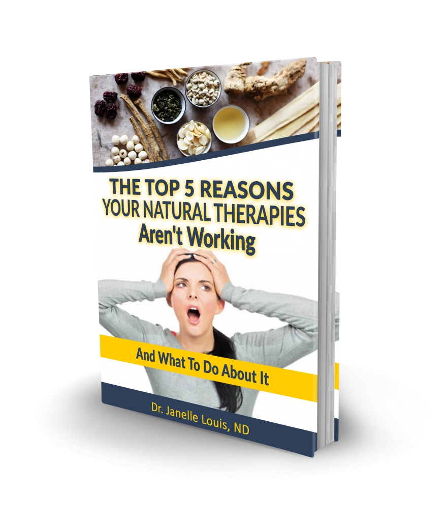 Photo of free, closed functional medicine e-book, Top 5 reasons your natural therapies aren't working and what to do about it.